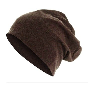 czapka MASTERDIS - HEATHER JERSEY BEANIE chocolate