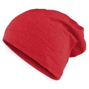 czapka MASTERDIS - JERSEY BEANIE heather red