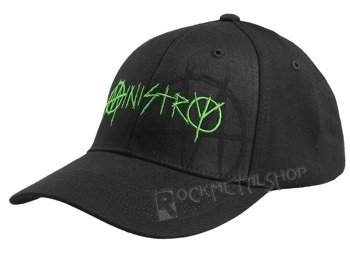 czapka MINISTRY - BLACK AND GREEN FLEX CAP
