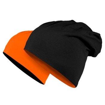 czapka dwustronna MASTERDIS - JERSEY BEANIE REVERSIBLE black/neonorange