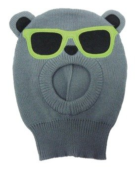 czapka zimowa FREAKS AND FRIENDS - GREY TEDDY SUNGLASSE