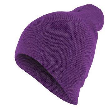 czapka zimowa MASTERDIS - BEANIE BASIC FLAP purple