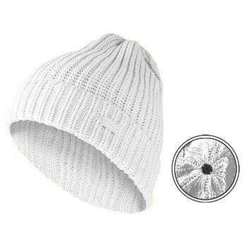 czapka zimowa MASTERDIS - KMA BEANIE BASIC FLIP white