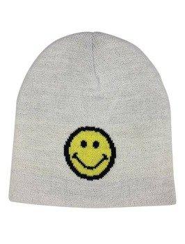 czapka zimowa MASTERDIS - SMILEY JACQUARD KNIT white
