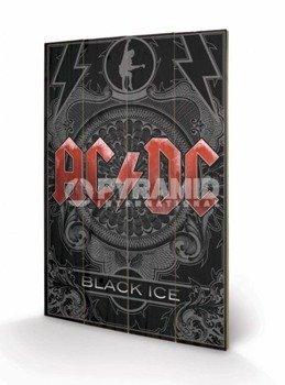 dekoracja/obraz na drewnie AC/DC (BLACK ICE)