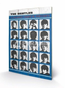 dekoracja/obraz na drewnie THE BEATLES (A HARD DAYS NIGHT)