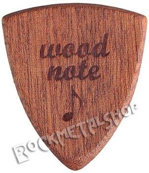 drewniana kostka do gitary WOODNOTE Bull Shield - MAHOŃ SAPELE