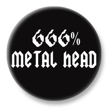 duży kapsel 666% METAL HEAD