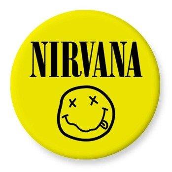 duży kapsel NIRVANA - SMILEY żółty