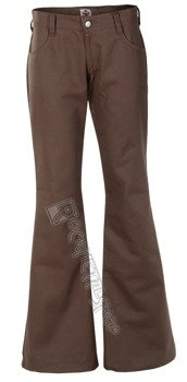 dzwony unisex LOONS HIPSTER DENIM BROWN