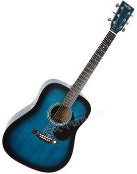 gitara akustyczna EVER PLAY AP-305C BLUEBURST + akcesoria