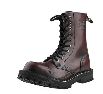 glany STEEL - BURGUND / BLACK (10 dziurek)