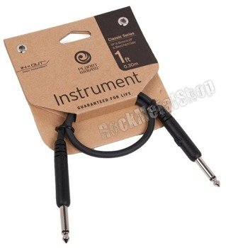 kabel do efektów 30cm PLANET WAVES CLASSIC jack prosty/prosty (PW-CGTP-01)