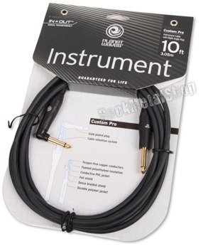 kabel gitarowy 3,05m PLANET WAVES CUSTOM PRO jack kąt/prosty