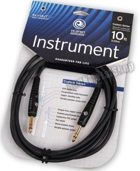 kabel instrumentalny 3,05m PLANET WAVES CUSTOM SERIES jack STEREO prosty/prosty (PW-GS-10)