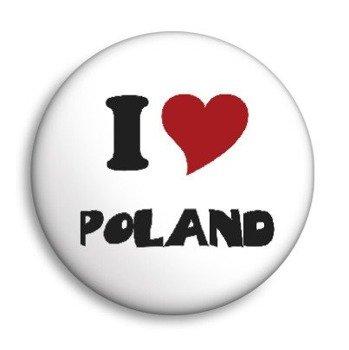kapsel I LOVE POLAND Ø25mm