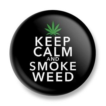 kapsel KEEP CALM AND SMOKE WEED Ø25mm