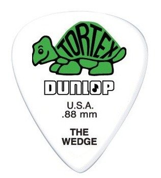 kostka gitarowa DUNLOP - TORTEX THE WEDGE GREEN 0.88 mm (424R0.88)