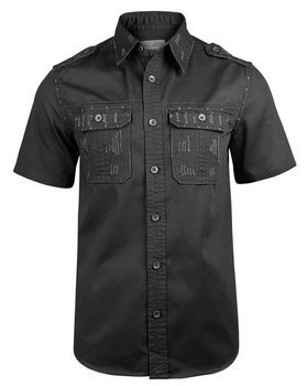 koszula 1/2 RAW VINTAGE BLACK