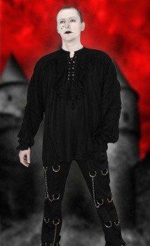 koszula GOTYCKA czarna z żabotem