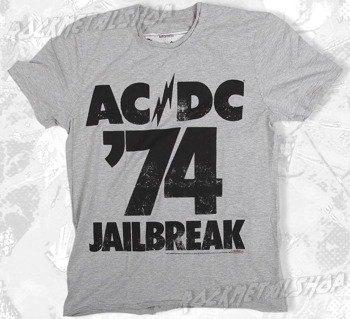 koszulka AC/DC - JAILBRAKE szary melanż