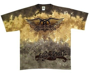 koszulka AEROSMITH - RAY LOGO barwiona