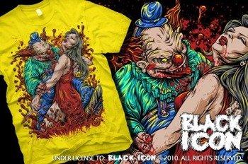 koszulka BLACK ICON - LUNGE żółta (MICON074 YELLOW)
