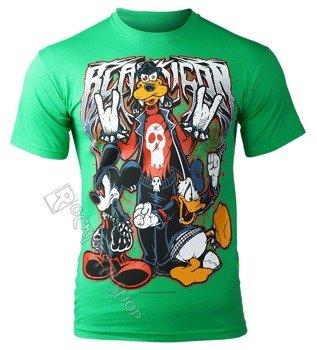 koszulka BLACK ICON - MOUSE, DUCK AND DOG (MICON111 GREEN)
