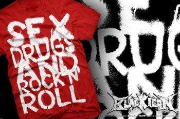 koszulka BLACK ICON - SEX, DRUGS (MICON102 RED)