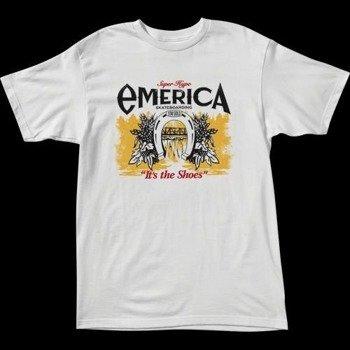 koszulka EMERICA - LUCKY SHOES (WHITE) 09'