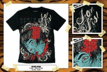 koszulka IRON FIST '09 (Geisha Head) (Black)