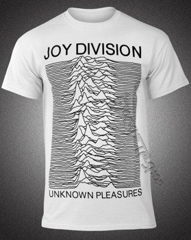 koszulka JOY DIVISION - UNKNOWN PLEASURES biała