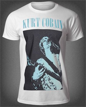 koszulka KURT COBAIN - STANDING BLUE PHOTO