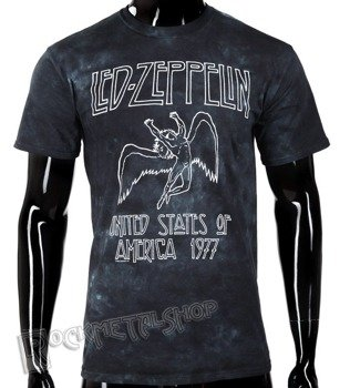 koszulka LED ZEPPELIN - USA TOUR 77, barwiona