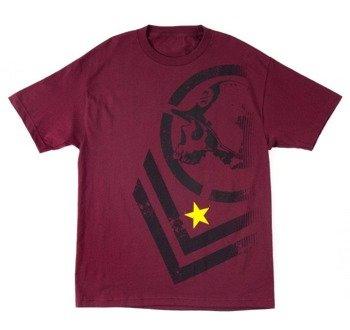 koszulka METAL MULISHA - DECLINE wiśniowa
