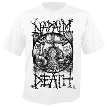 koszulka NAPALM DEATH - POWERTY WHITE