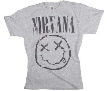 koszulka NIRVANA - SMILEY szary melanż
