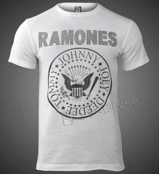 koszulka RAMONES - LOGO WHITE, cykorie