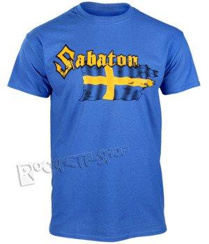 koszulka SABATON - SWEDISH WAR MACHINE niebieska