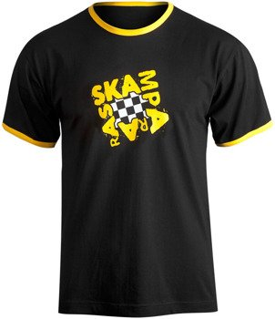 koszulka SKAMPARARAS - LOGO (czarno-żółta)