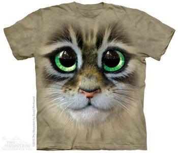 koszulka THE MOUNTAIN - BIG EYES KITTEN FACE, barwiona
