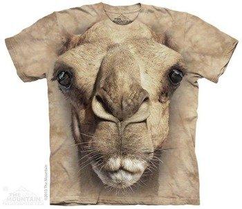 koszulka THE MOUNTAIN - BIG FACE CAMEL, barwiona