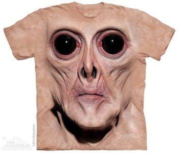 koszulka THE MOUNTAIN - BIG FACE KREM, barwiona