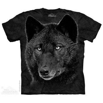 koszulka THE MOUNTAIN - BLACK WOLF, barwiona