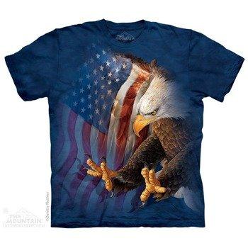 koszulka THE MOUNTAIN - EAGLE FREEDOM AMERICANA, barwiona