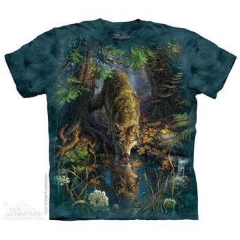 koszulka THE MOUNTAIN - ENCHANTED WOLF POOL, barwiona