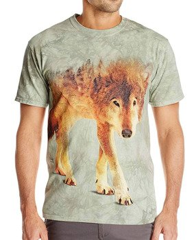 koszulka THE MOUNTAIN - FOREST WOLF WOLVES, barwiona