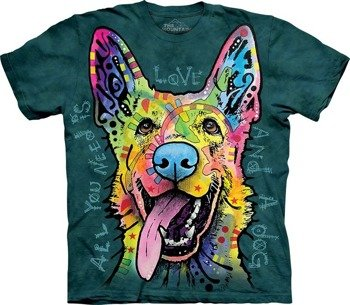 koszulka THE MOUNTAIN - LOVE SHEPHERD, barwiona