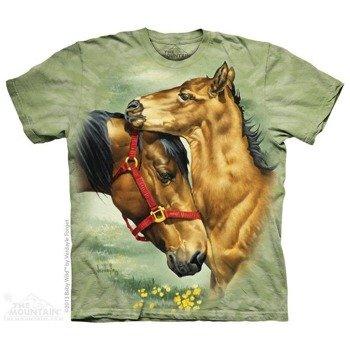 koszulka THE MOUNTAIN - MEADOW HORSES, barwiona