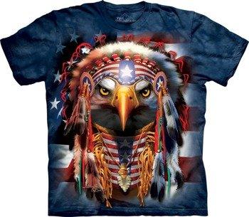 koszulka THE MOUNTAIN - NATIVE PATRIOT EAGLE, barwiona